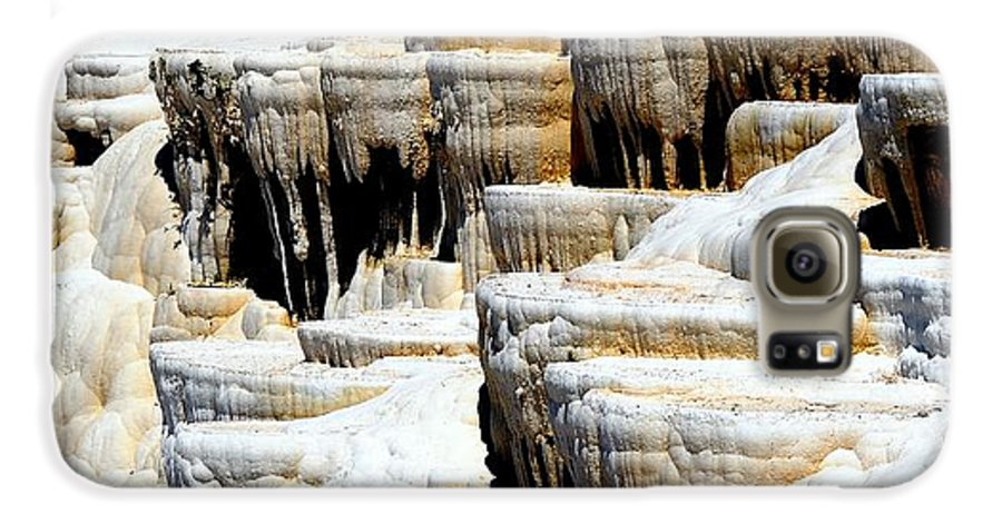 Pamukkale Galaxy S6 Case featuring the photograph Pamukkale Terraces by Apurva Madia