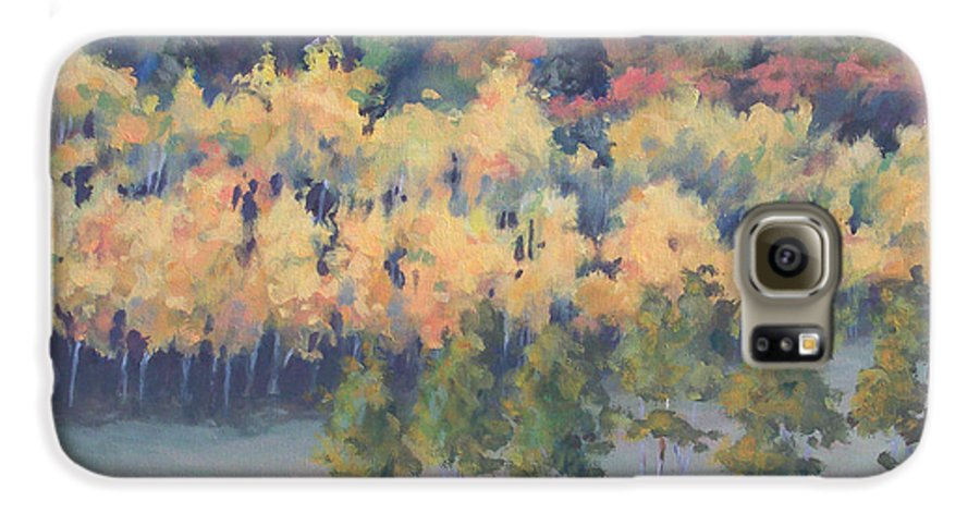 Landscape Galaxy S6 Case featuring the painting Park City Meadow by Philip Fleischer