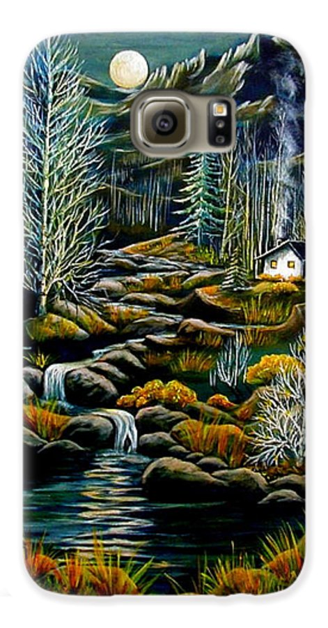 Mountains Galaxy S6 Case featuring the painting Peaceful Seclusion by Diana Dearen