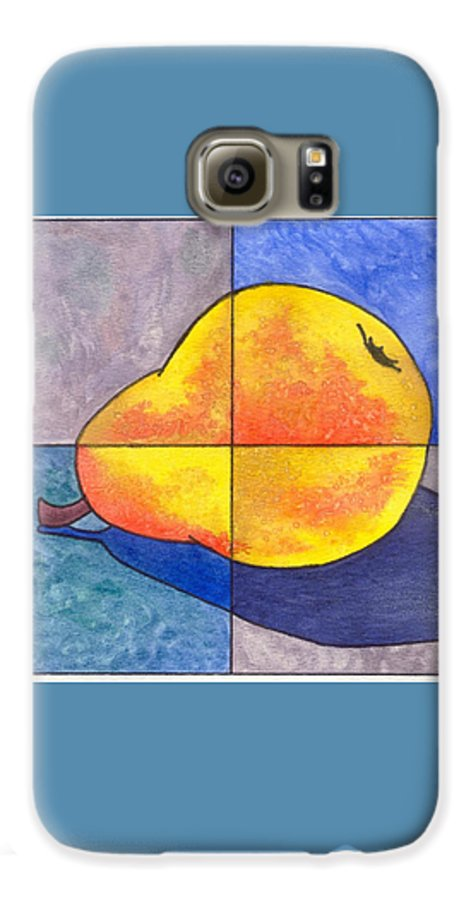 Pear Galaxy S6 Case featuring the painting Pear I by Micah Guenther