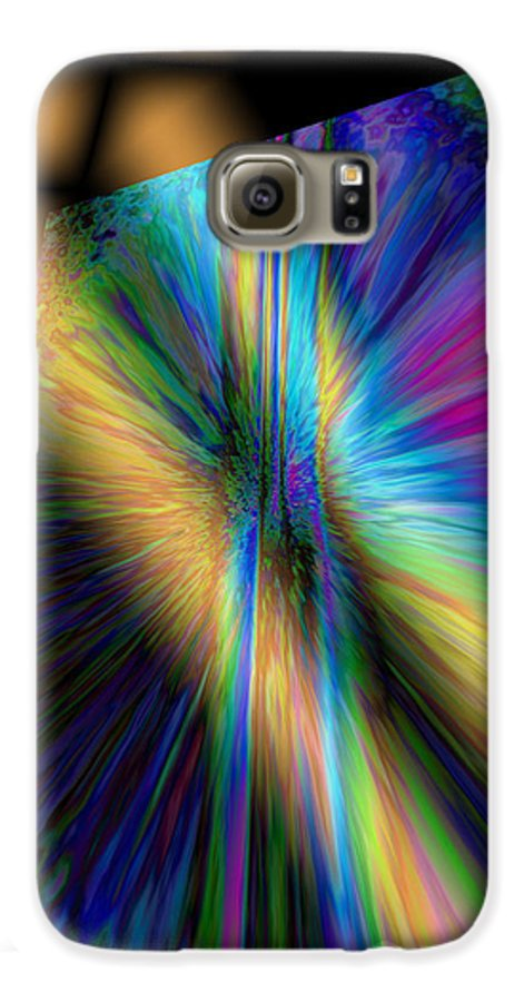 Nature Galaxy S6 Case featuring the digital art Peeking Through The Lattice by Jimi Bush