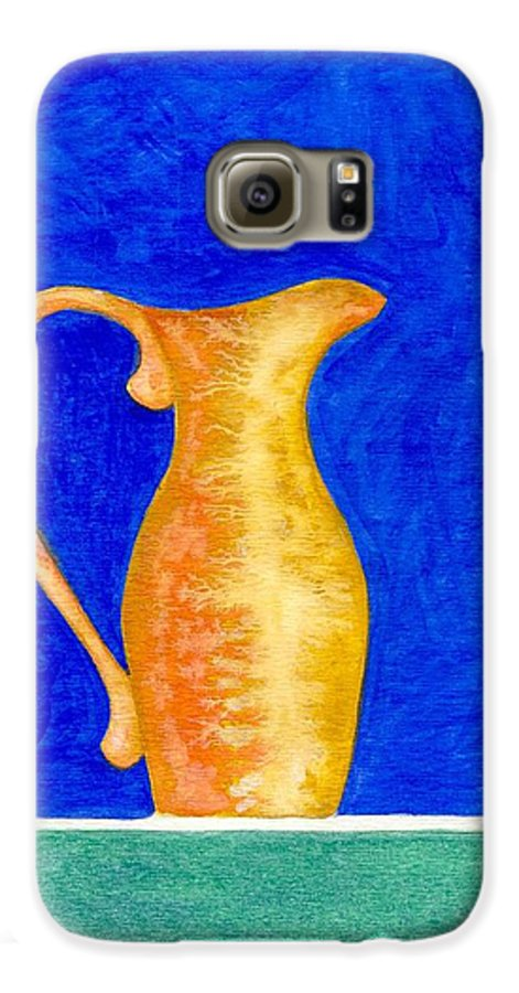 Still Life Galaxy S6 Case featuring the painting Pitcher 2 by Micah Guenther