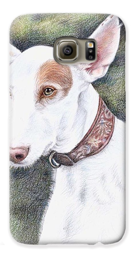 Dog Galaxy S6 Case featuring the drawing Podenco Ibicenco by Nicole Zeug