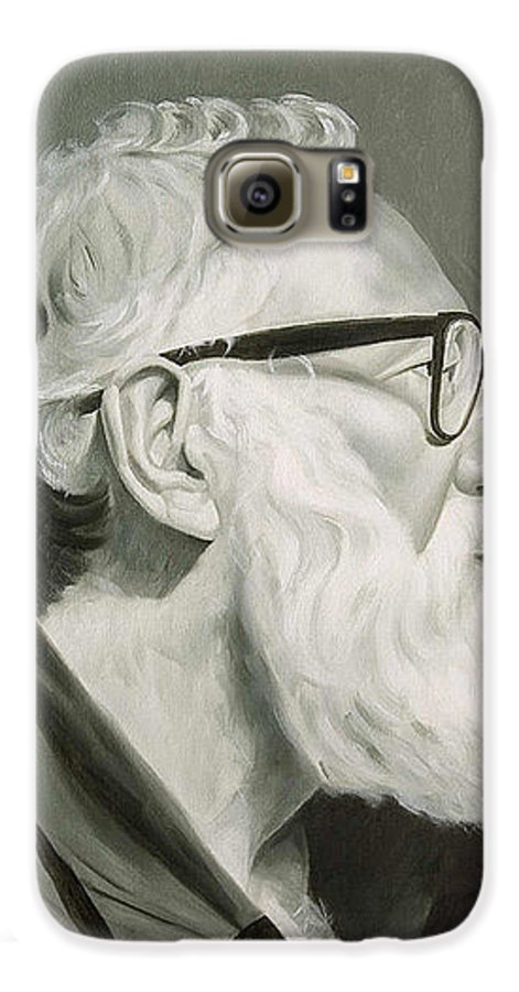 Portrait Galaxy S6 Case featuring the painting Portrait In Grisaille by Gary Hernandez