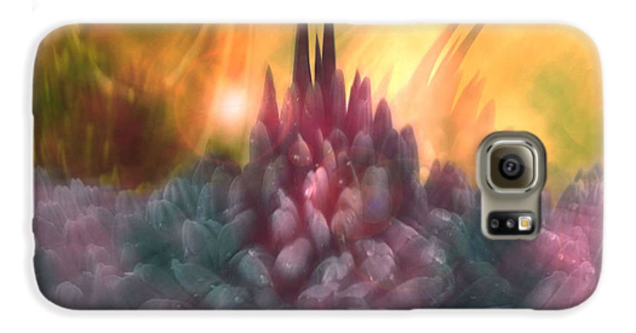 Abstract Galaxy S6 Case featuring the digital art Psychedelic Tendencies  by Linda Sannuti