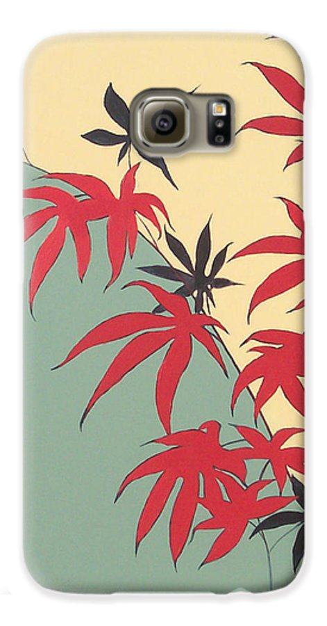 Bamboo Galaxy S6 Case featuring the painting Psycho Wabbits by Philip Fleischer