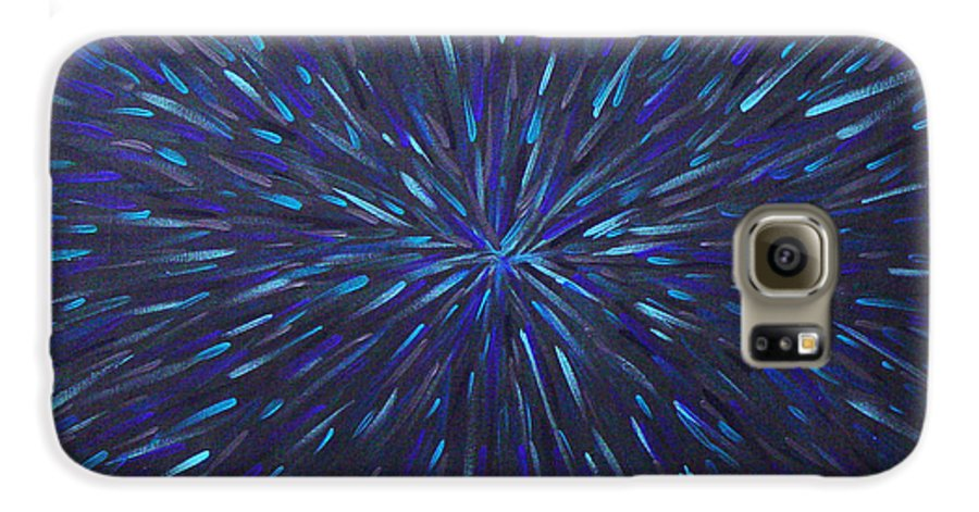 Abstract Galaxy S6 Case featuring the painting Radiation Grey by Dean Triolo