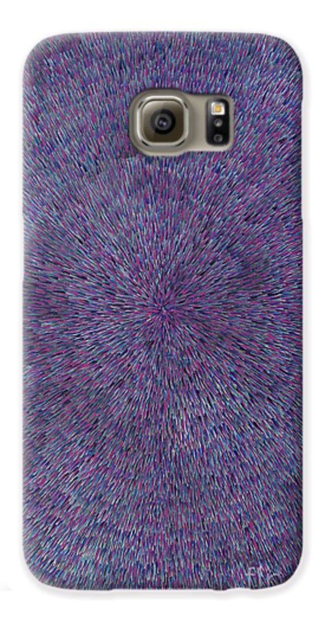 Abstract Galaxy S6 Case featuring the painting Radiation Violet by Dean Triolo