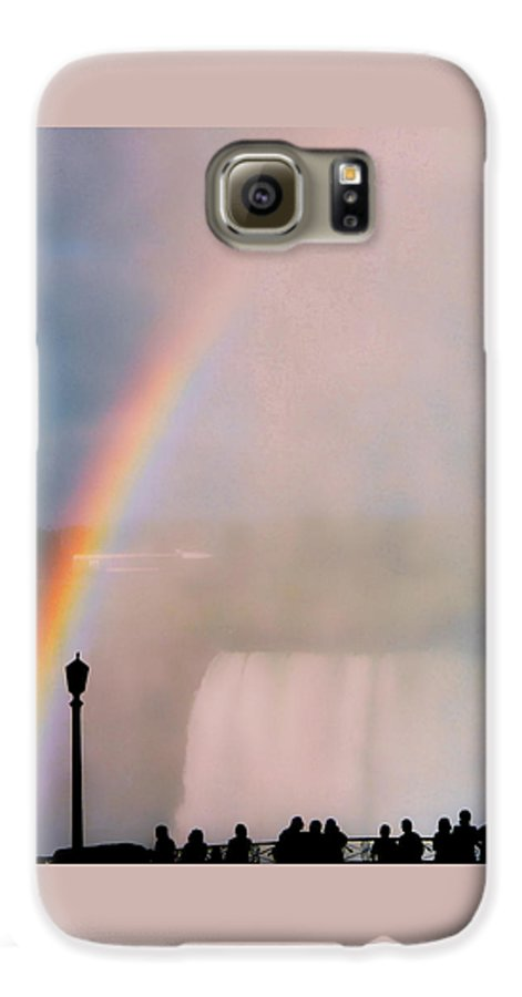 Rainbow Galaxy S6 Case featuring the photograph Rainbow Falls by Pharris Art