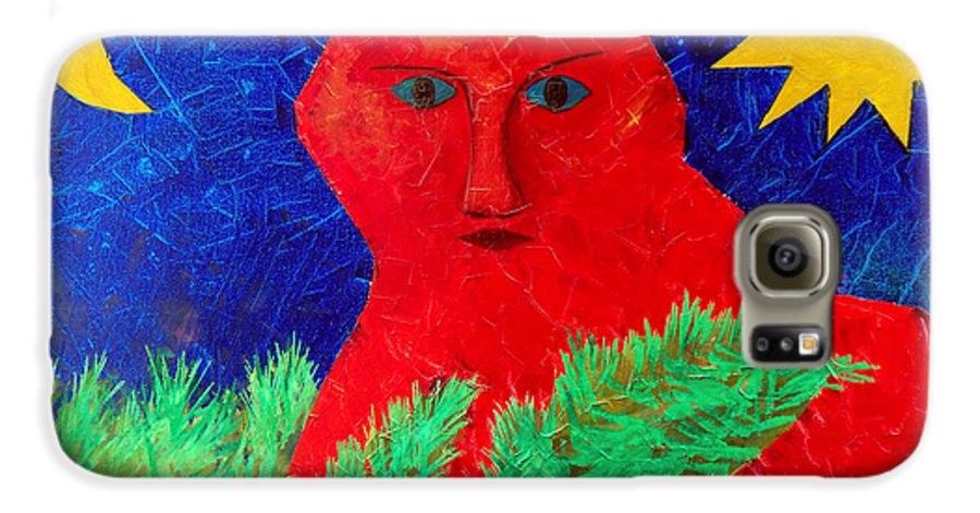 Fantasy Galaxy S6 Case featuring the painting Red by Sergey Bezhinets