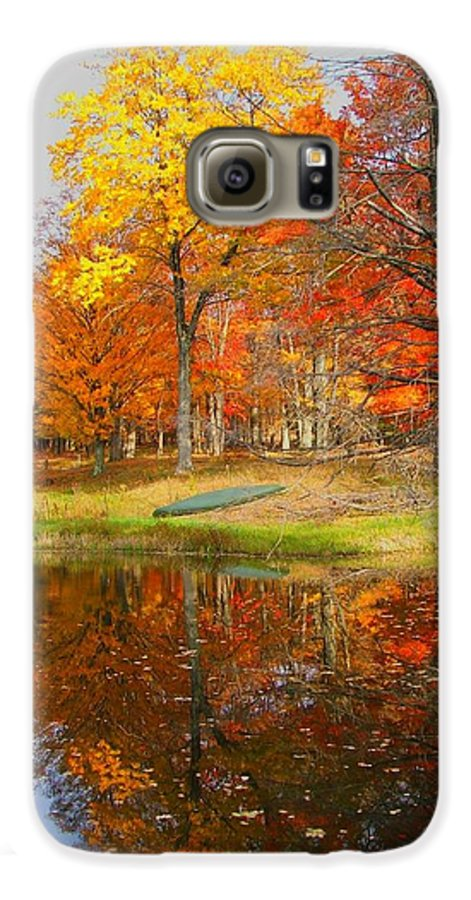 Fall Galaxy S6 Case featuring the photograph Reflections Of Autumn by Judy Waller