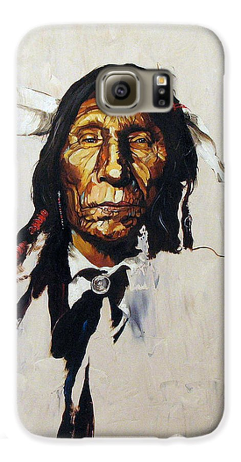 Southwest Art Galaxy S6 Case featuring the painting Remember by J W Baker