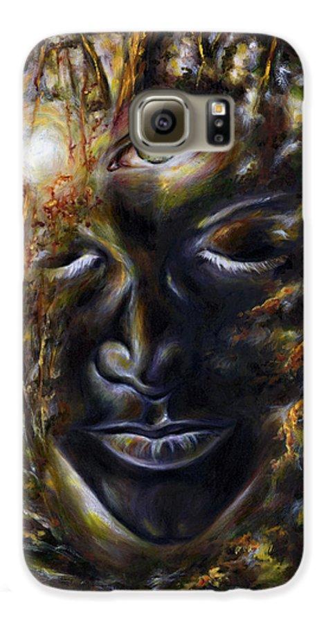 Eye Galaxy S6 Case featuring the painting Revelation by Hiroko Sakai