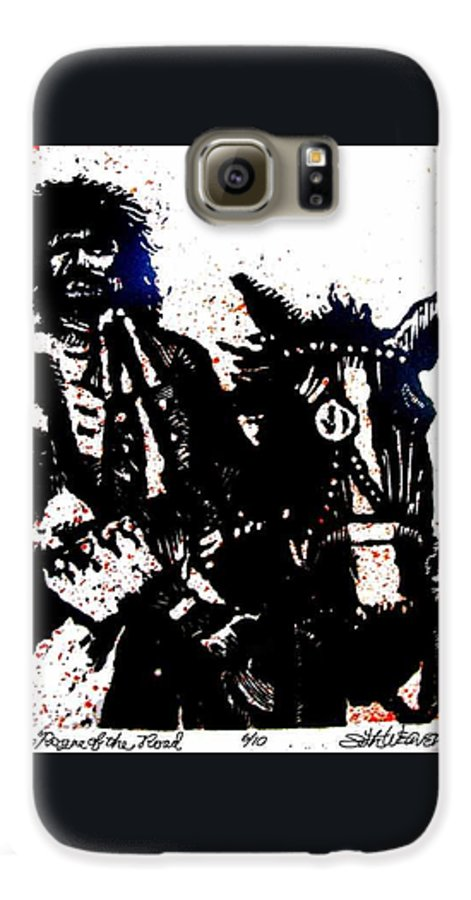 English Highwayman Galaxy S6 Case featuring the mixed media Rogue Of The Road by Seth Weaver