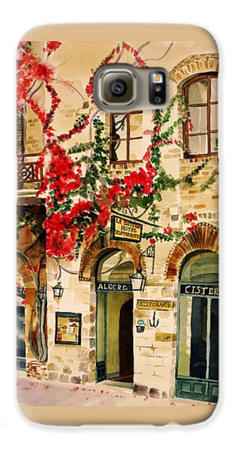 Award-winning Galaxy S6 Case featuring the painting San Gimignano by Judy Swerlick