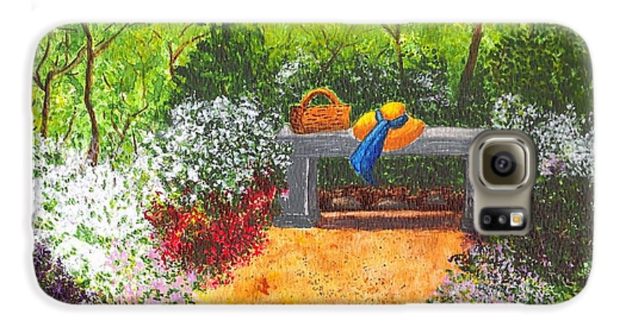 Garden Painting Galaxy S6 Case featuring the painting Sanctuary by Patricia Griffin Brett