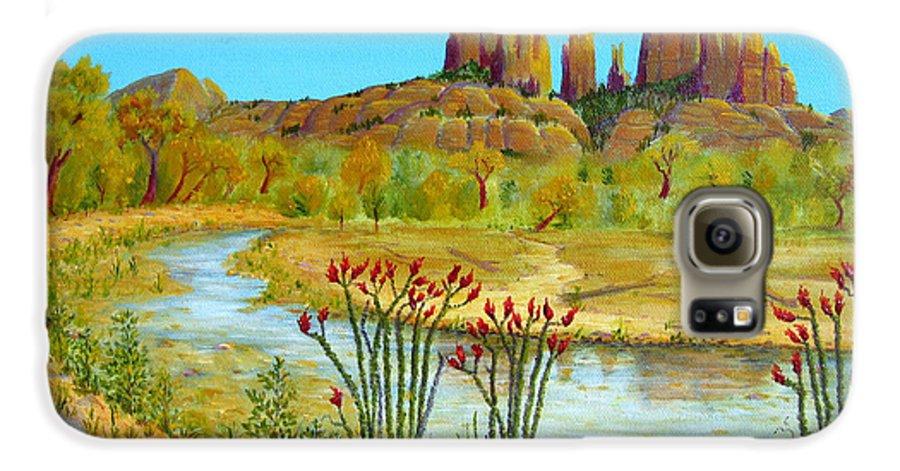 Sedona Galaxy S6 Case featuring the painting Sedona Arizona by Jerome Stumphauzer