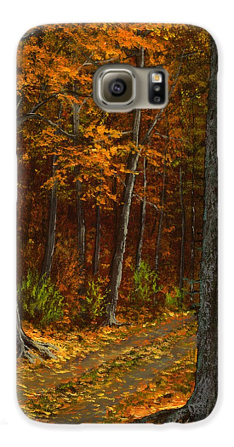 Landscape Galaxy S6 Case featuring the painting Seldom Used by Frank Wilson