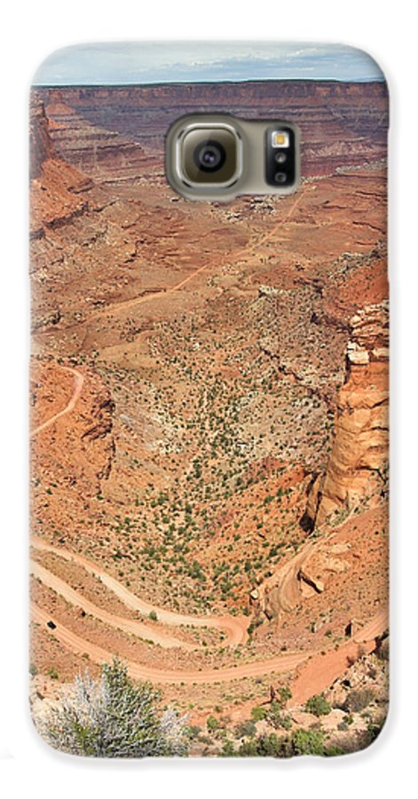 3scape Galaxy S6 Case featuring the photograph Shafer Trail by Adam Romanowicz