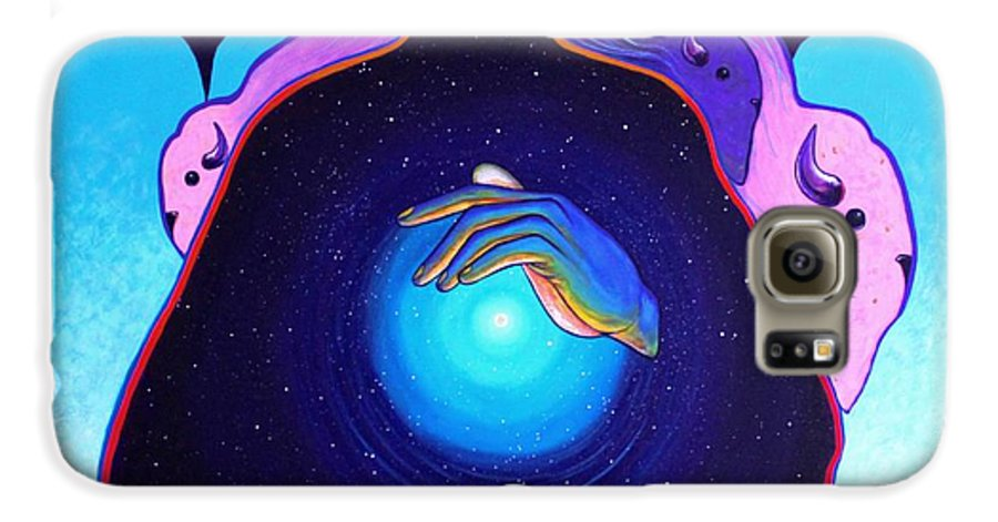 Spiritual Galaxy S6 Case featuring the painting She Carries The Spirit by Joe Triano