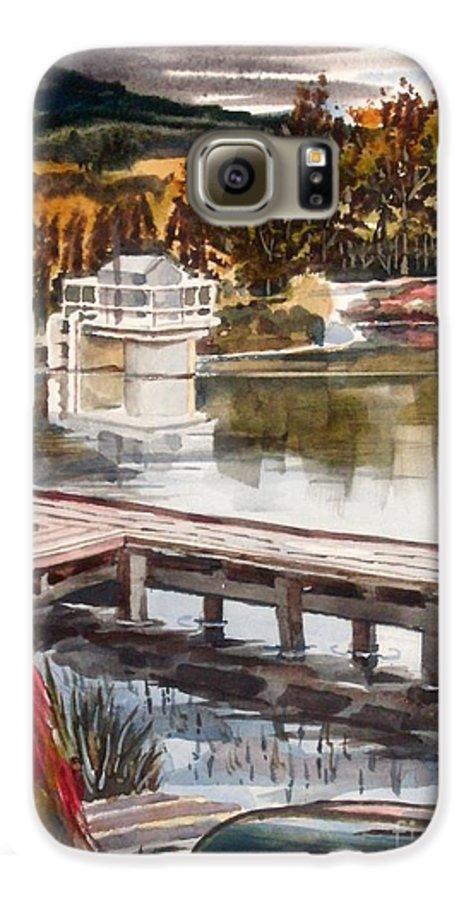 Shepherd Mountain Lake In Twilight Galaxy S6 Case featuring the painting Shepherd Mountain Lake In Twilight by Kip DeVore