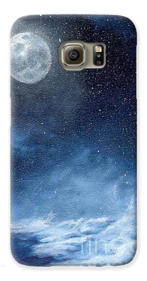 Cosmos Galaxy S6 Case featuring the painting Shimmer by Murphy Elliott