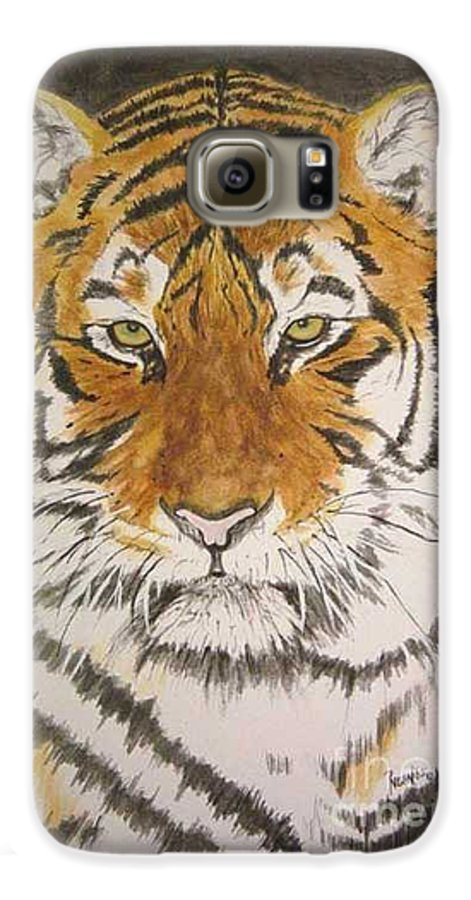 Siberian Tiger Galaxy S6 Case featuring the painting Siberian Tiger by Regan J Smith