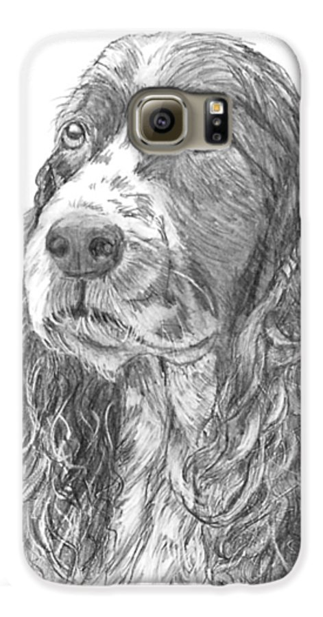 Dog Galaxy S6 Case featuring the drawing Sibley by Quwatha Valentine
