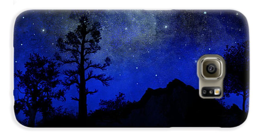 Sierra Silhouette Galaxy S6 Case featuring the painting Sierra Silhouette Wall Mural by Frank Wilson