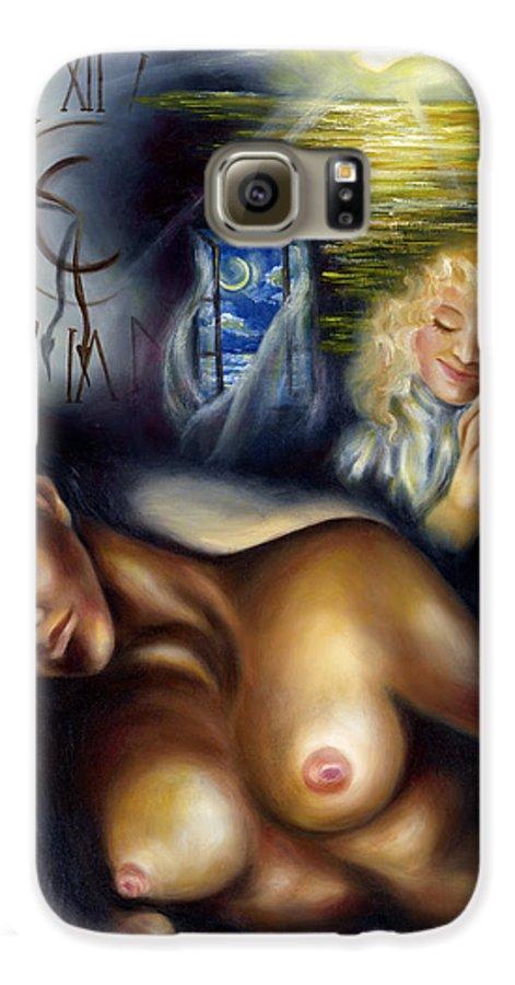 Siesta Galaxy S6 Case featuring the painting Siesta by Hiroko Sakai