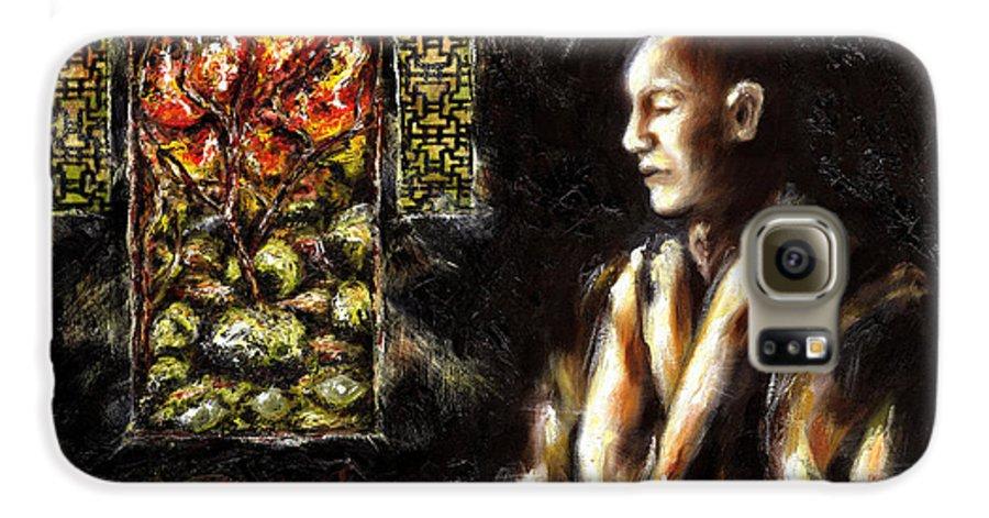 Zen Galaxy S6 Case featuring the painting Silence by Hiroko Sakai