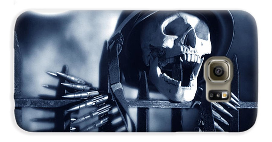 Skull Galaxy S6 Case featuring the photograph Skull by Tony Cordoza