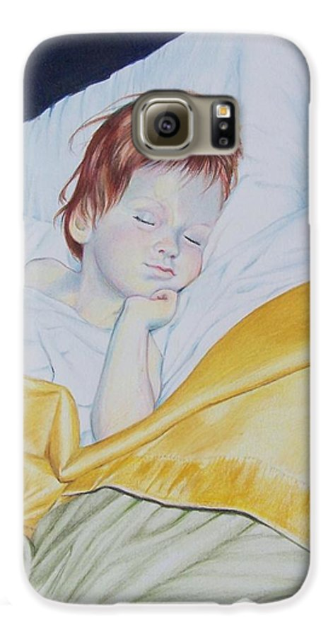 Baby Galaxy S6 Case featuring the mixed media Sleeping Beauty by Constance Drescher