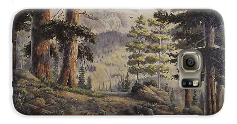 Slumgullian Mountain Colo. Galaxy S6 Case featuring the painting Slumgullian Pass by Wanda Dansereau
