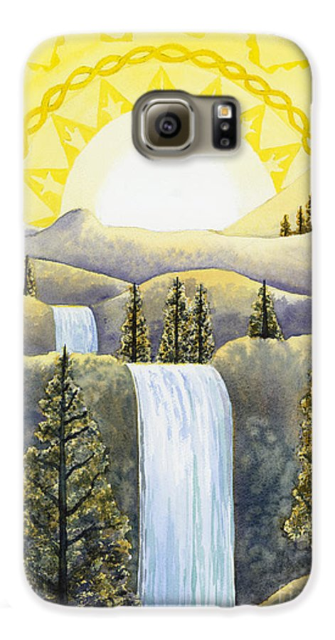 Power Galaxy S6 Case featuring the painting Solar Plexus Chakra by Catherine G McElroy