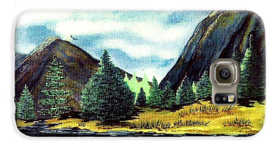 Fine Art Galaxy S6 Case featuring the painting Solitude by Patricia Griffin Brett