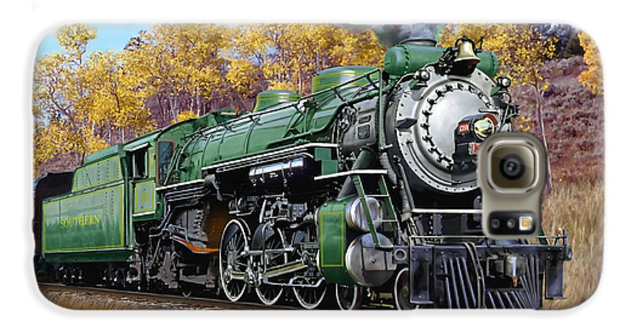 Railraod Galaxy S6 Case featuring the painting Southern Railway Class Ps-4 Pacific by Mark Karvon