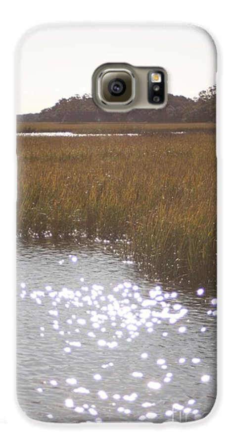Marsh Galaxy S6 Case featuring the photograph Sparkling Marsh by Nadine Rippelmeyer