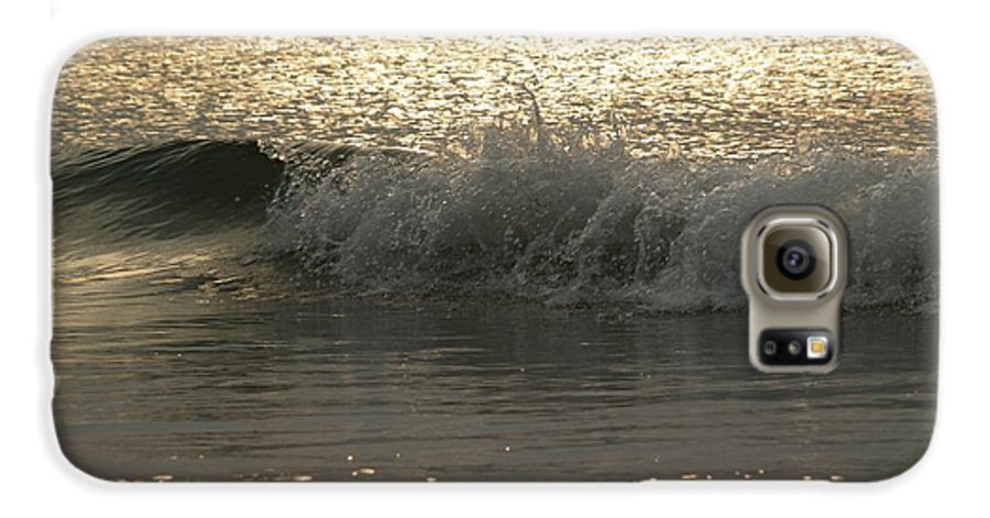 Sunrise Galaxy S6 Case featuring the photograph Sparkling Sea In Hunting Island Dawn by Anna Lisa Yoder