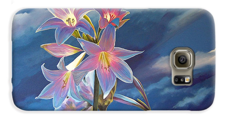 Botanical Galaxy S6 Case featuring the painting Spellbound by Hunter Jay