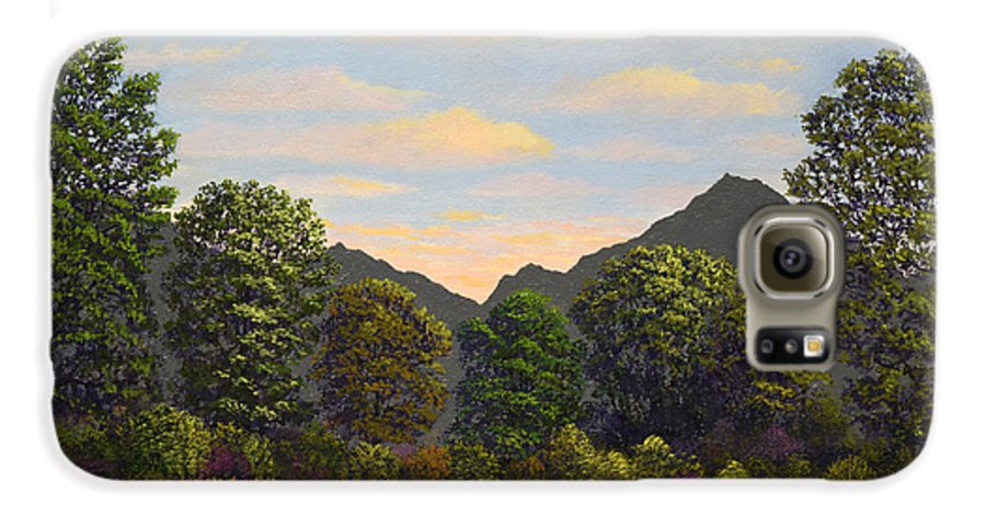 Spring Meadow At Sutter Buttes Galaxy S6 Case featuring the painting Spring Meadow At Sutter Buttes by Frank Wilson