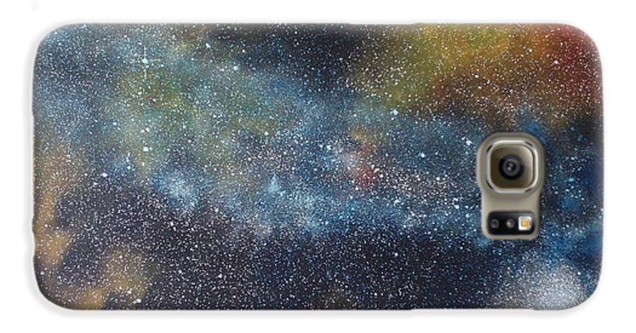 Space;stars;starry;nebula;spiral;galaxy;star Cluster;celestial;cosmos;universe;orgasm Galaxy S6 Case featuring the painting Stargasm by Sean Connolly