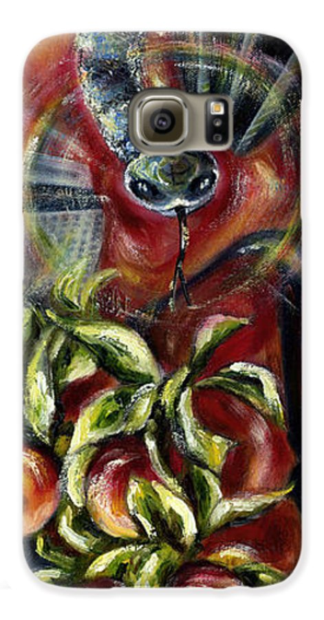 Snake Galaxy S6 Case featuring the painting Still... by Hiroko Sakai