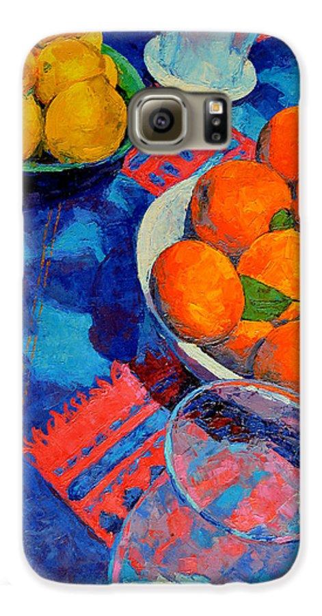 Still Life Galaxy S6 Case featuring the painting Still Life 2 by Iliyan Bozhanov