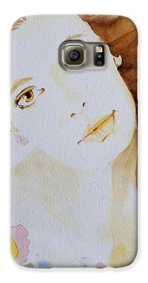 Watercolour Galaxy S6 Case featuring the painting Still Waters' Reflection by Janice Gell