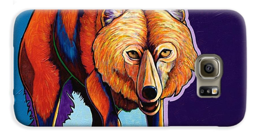 Contemporary Galaxy S6 Case featuring the painting Strictly Business - Arctic Wolf by Joe Triano