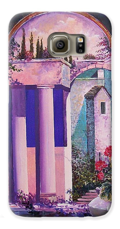 Still Life Galaxy S6 Case featuring the painting Structures With Emotional Dimensions by Sinisa Saratlic