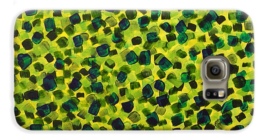 Abstract Galaxy S6 Case featuring the painting Sunlight Through The Trees 2 by Dean Triolo