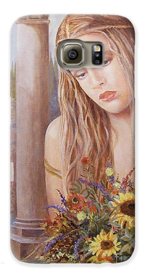 Portrait Galaxy S6 Case featuring the painting Summer Day by Sinisa Saratlic
