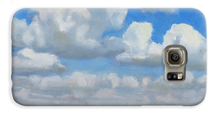 Landscape Galaxy S6 Case featuring the painting Summer Pasture by Bruce Morrison